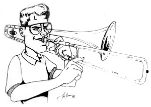 Illustration of David Brubeck